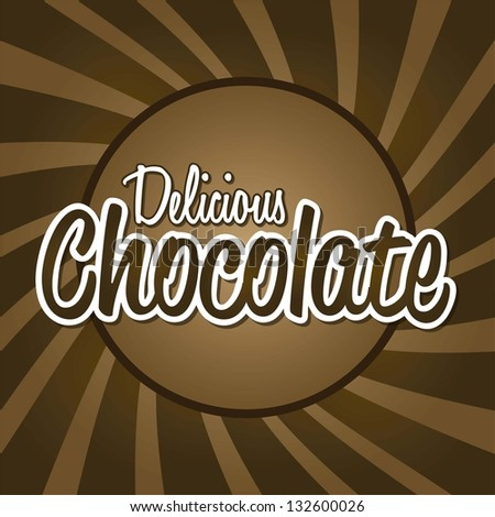 delicious chocolate letters over brown background. vector - stock vector