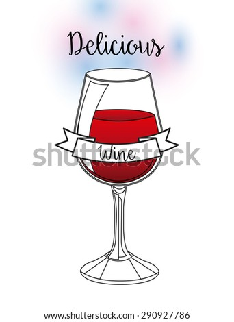 delicious drink design, vector illustration eps10 graphic  - stock vector