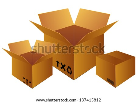 delivery box for logistic company - stock vector