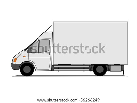 Delivery car - Original design - stock vector
