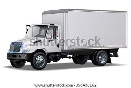 Delivery / Cargo Truck Available EPS-10 separated by groups and layers for easy edit