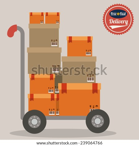 Delivery  design over white background,vector illustration. - stock vector