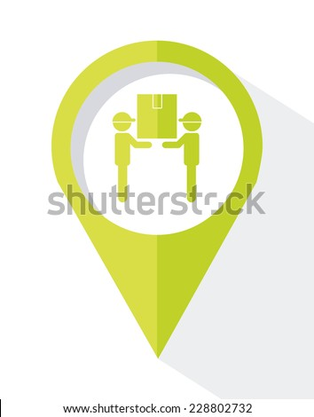 delivery graphic design , vector illustration - stock vector