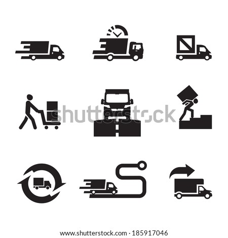 Delivery icons. Vector format - stock vector