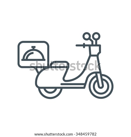 Delivery motorbike icon suitable for info graphics, websites and print media. Vector icon. - stock vector