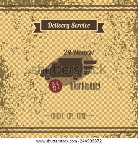 delivery retro page - stock vector