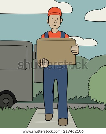 delivery service - stock vector