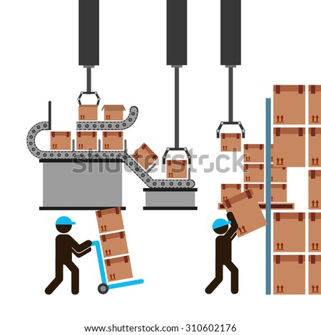 delivery service design, vector illustration eps10 graphic  - stock vector