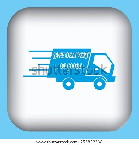 delivery sign icon - stock vector