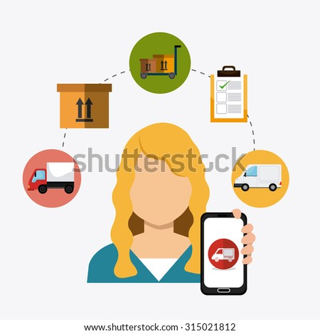 Delivery,transport and logistics business, vector illustration