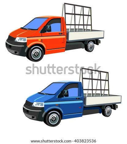 delivery transport of windows - stock vector