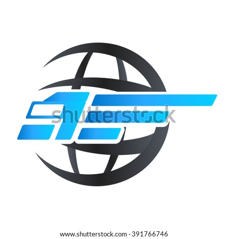 delivery truck and world - vector illustration