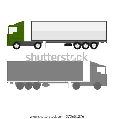 Delivery truck car. - stock vector