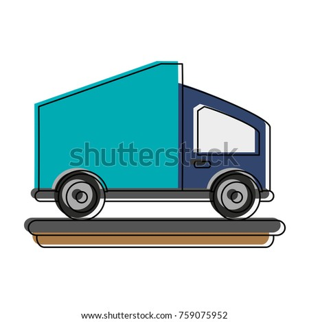 Delivery truck vehicle icon vector illustration graphic design