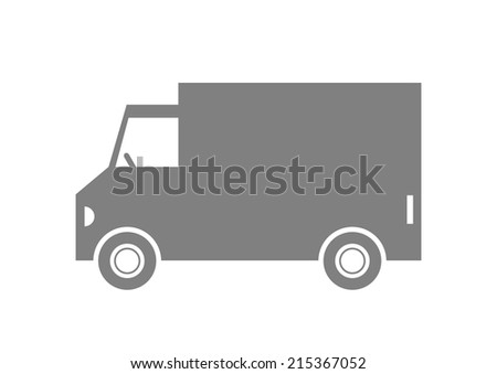 Delivery van on white background  - stock vector
