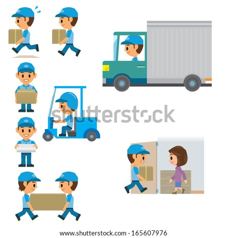 Deliveryman - stock vector
