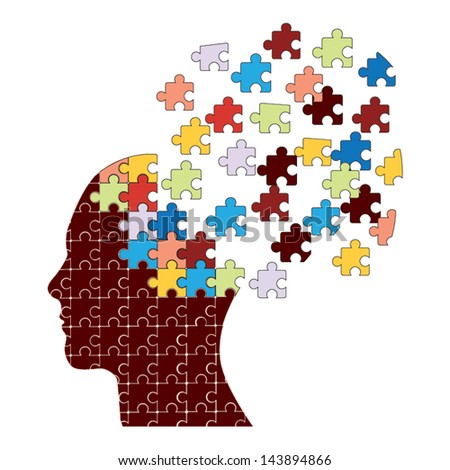 Dementia concept vector - stock vector