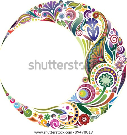 Demilune - stock vector
