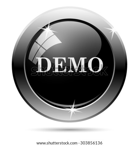 Demo icon. Internet button on white background. EPS10 vector  - stock vector
