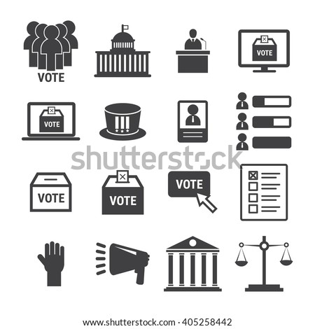 democracy icon - stock vector