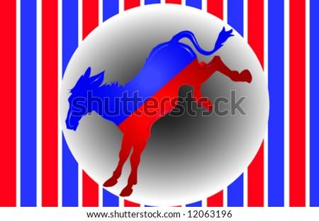 Democrat Donkey Vector - stock vector