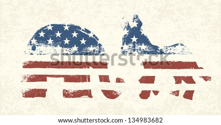 Democratic and Republican Political Symbols - stock vector