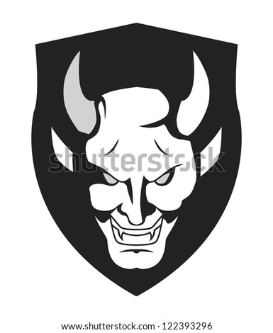 demon symbol - stock vector
