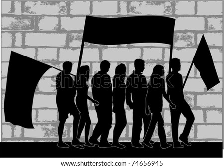 Demonstration People - stock vector