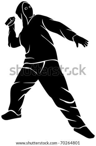 demonstrator (hooligan) - stock vector