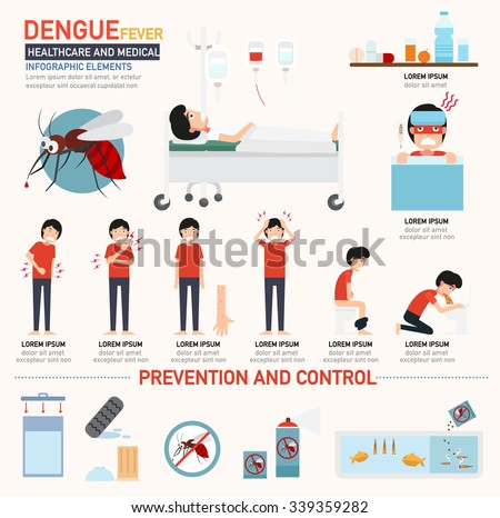 Dengue fever infographics. vector illustration. - stock vector