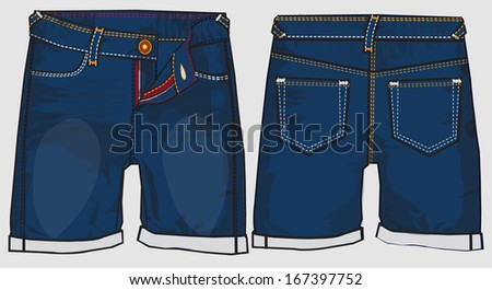 denim - stock vector