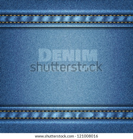 Denim background. Vector eps10 - stock vector