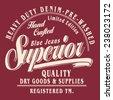 Denim typography, t-shirt graphics, vectors - stock vector