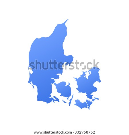 Denmark country map,border - stock vector