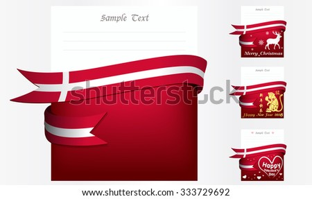 Denmark 's greeting card in big 3 festivals and their template vectors in eps10 - stock vector
