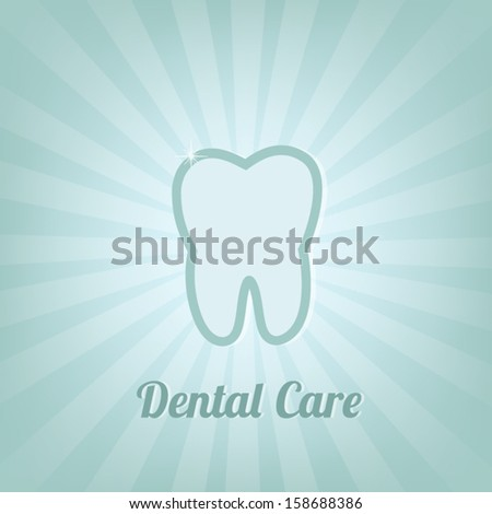 Dental care background - stock vector
