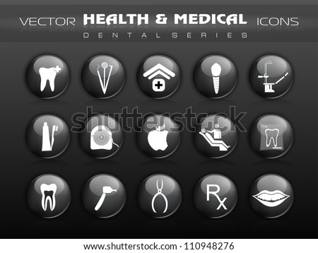 Dental care icons. EPS 10. - stock vector