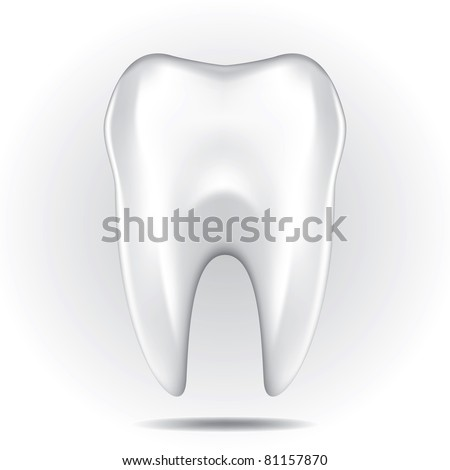 Dental character drawing on a white background - stock vector