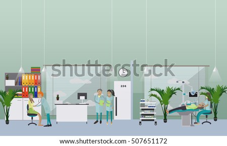 Stock images royalty free images vectors shutterstock for Dental clinic interior design concept