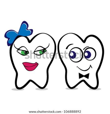dental clinic vector icon - smile - stock vector