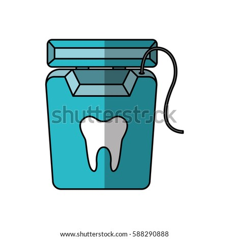 Dental Floss Isolated Icon