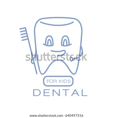 Dental for kids logo symbol vector Illustration