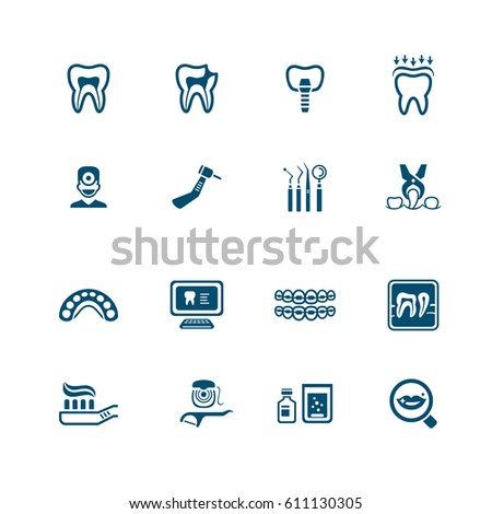 Dental icons | MICRO series