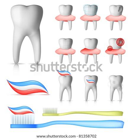 Dental Set - stock vector