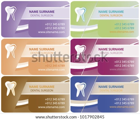 Dental surgeon business cards stock vector royalty free 1017902845 dental surgeon business cards colourmoves