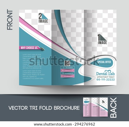 Dental Trifold Trifold Mock Brochure Template Stock Vector 294276962