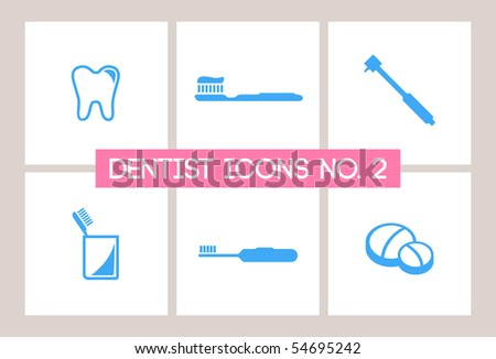 Dentist & Dental Icons #2 - stock vector