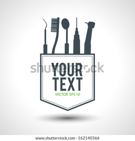 dentist design conceptual idea in vector format - stock vector