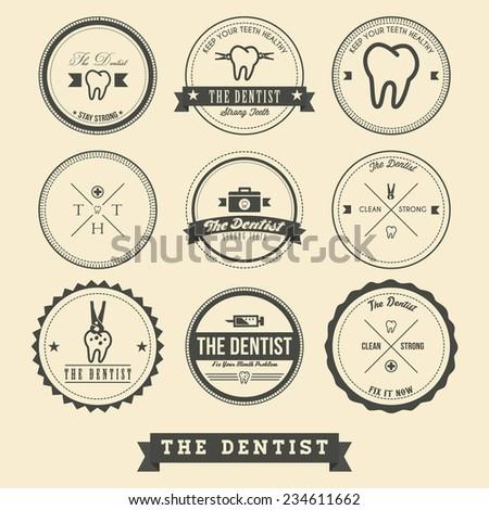 Dentist Label Design - stock vector