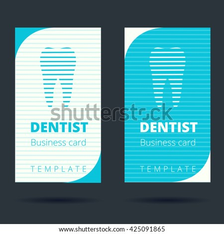 Dentist Stomatologist Business Card Template Tooth Stock Vector ...